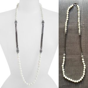 Givenchy - Long Faux Pearl Necklace